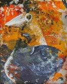 Kay Whitcomb, Bird, enamel on copper