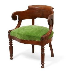 A William IV mahogany library armchair