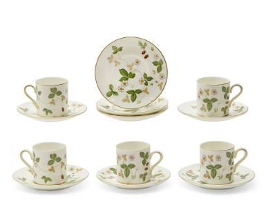 Wedgwood porcelain Wild Strawberry part coffee set
