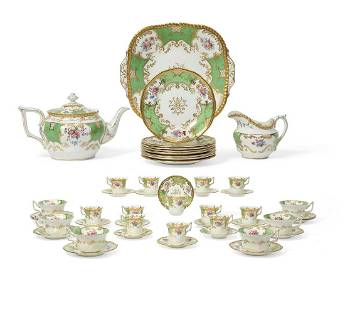 A Coalport porcelain part tea and coffee service