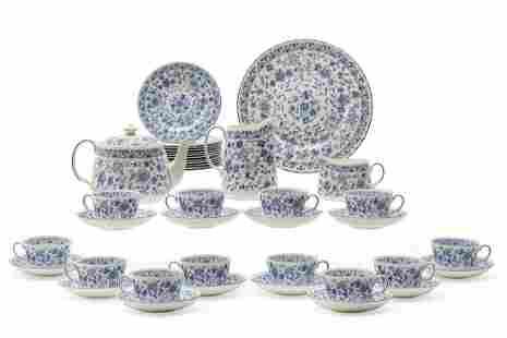 A Minton porcelain Shalimar part tea service