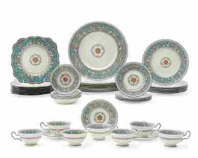 A Wedgwood porcelain Florentine Turquoise Rim set