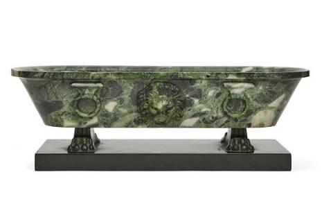 A Grand Tour verde marble model of a Roman bath