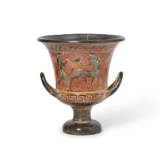 Grand Tour terracotta calyx-krater vase