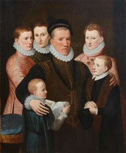 After Frans Pourbus, Lord Seaton & children, oil