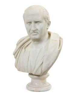An Italian marble bust of Marcus Tullius Cicero