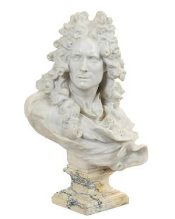 French marble bust of an 18th century gentleman