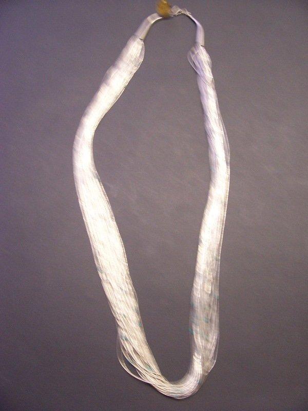 406: silver necklace