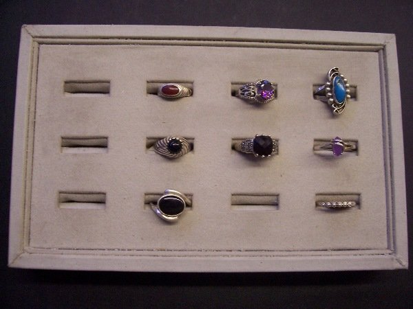 411: assorted native rings, silver quantity 8