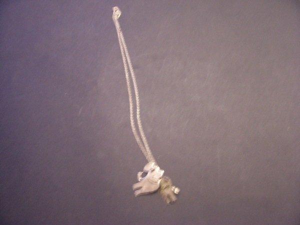 416: silver bracelet w native pendants