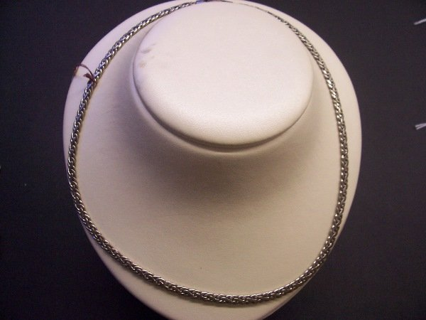 "423: silver necklace18"""