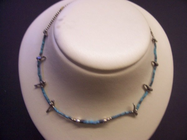 """424: turqouise necklace 12"""""""