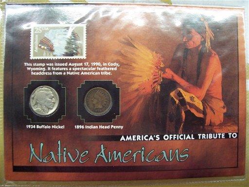516: 1934 buffalo nickel 1896 indian head penny