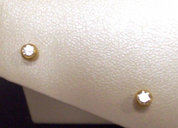 306: YOSSI HARARI 24K DIAMOND STUD EARRINGS