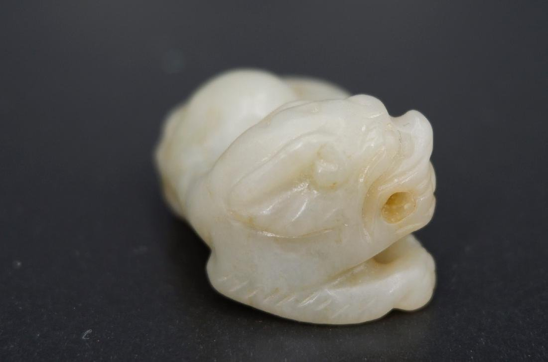 A CARVED JADE TIGER, QING DYNASTY - 4