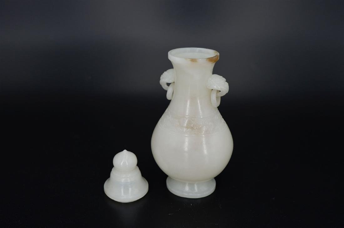 A CARVED JADE VASE, QING DYNASTY - 6