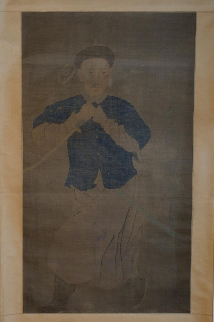 A CHINESE PAINTING, ANONYMOUS, INK AND COLOR ON SILK,