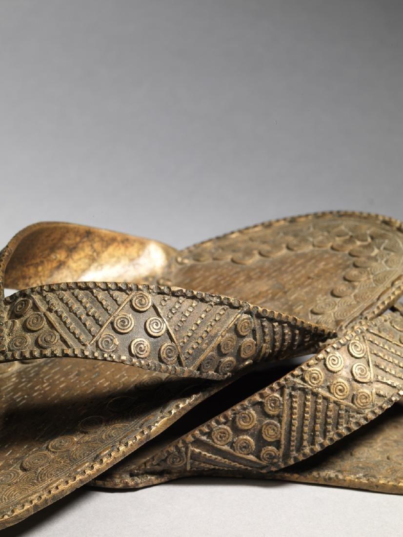 Bronzen Ashanti/Asante Sandal Tribal Art - 2