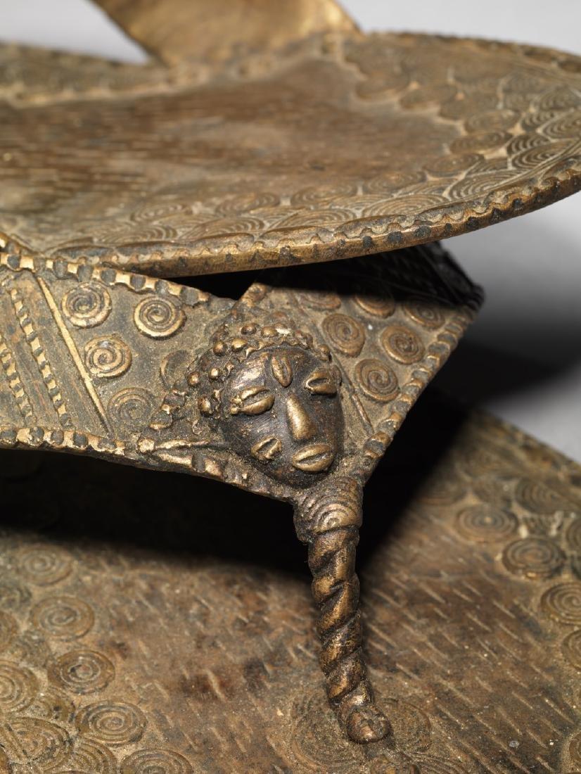 Bronzen Ashanti/Asante Sandal Tribal Art - 3