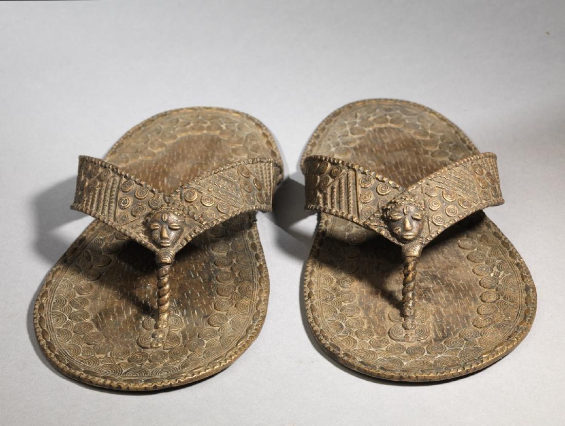 Bronzen Ashanti/Asante Sandal Tribal Art - 4