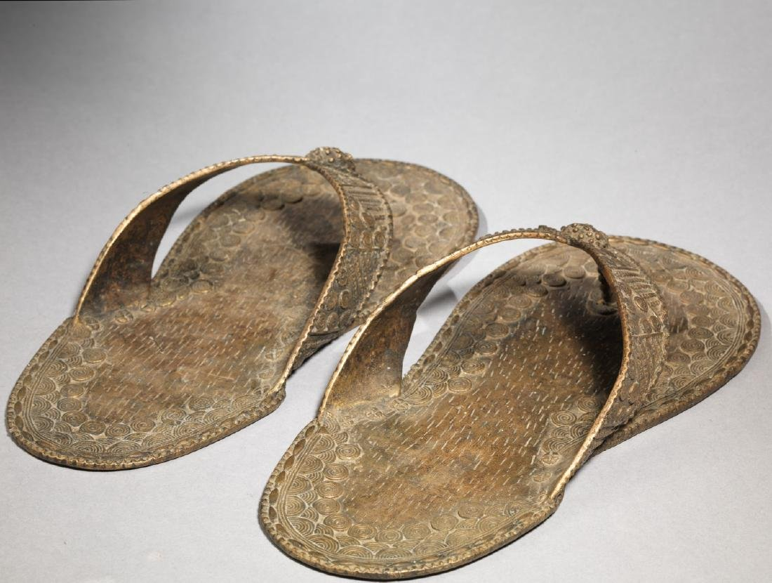 Bronzen Ashanti/Asante Sandal Tribal Art - 5