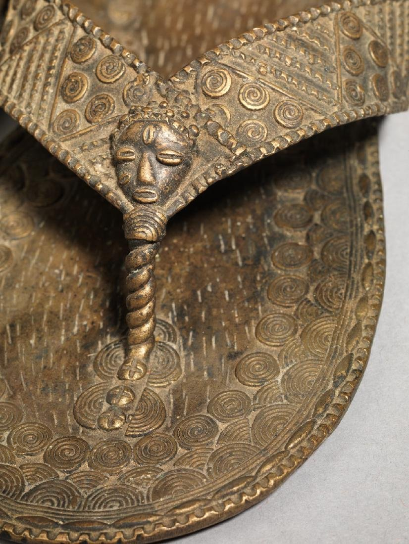Bronzen Ashanti/Asante Sandal Tribal Art - 7