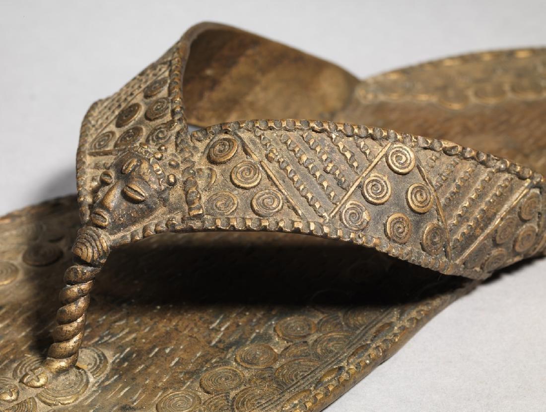 Bronzen Ashanti/Asante Sandal Tribal Art - 8