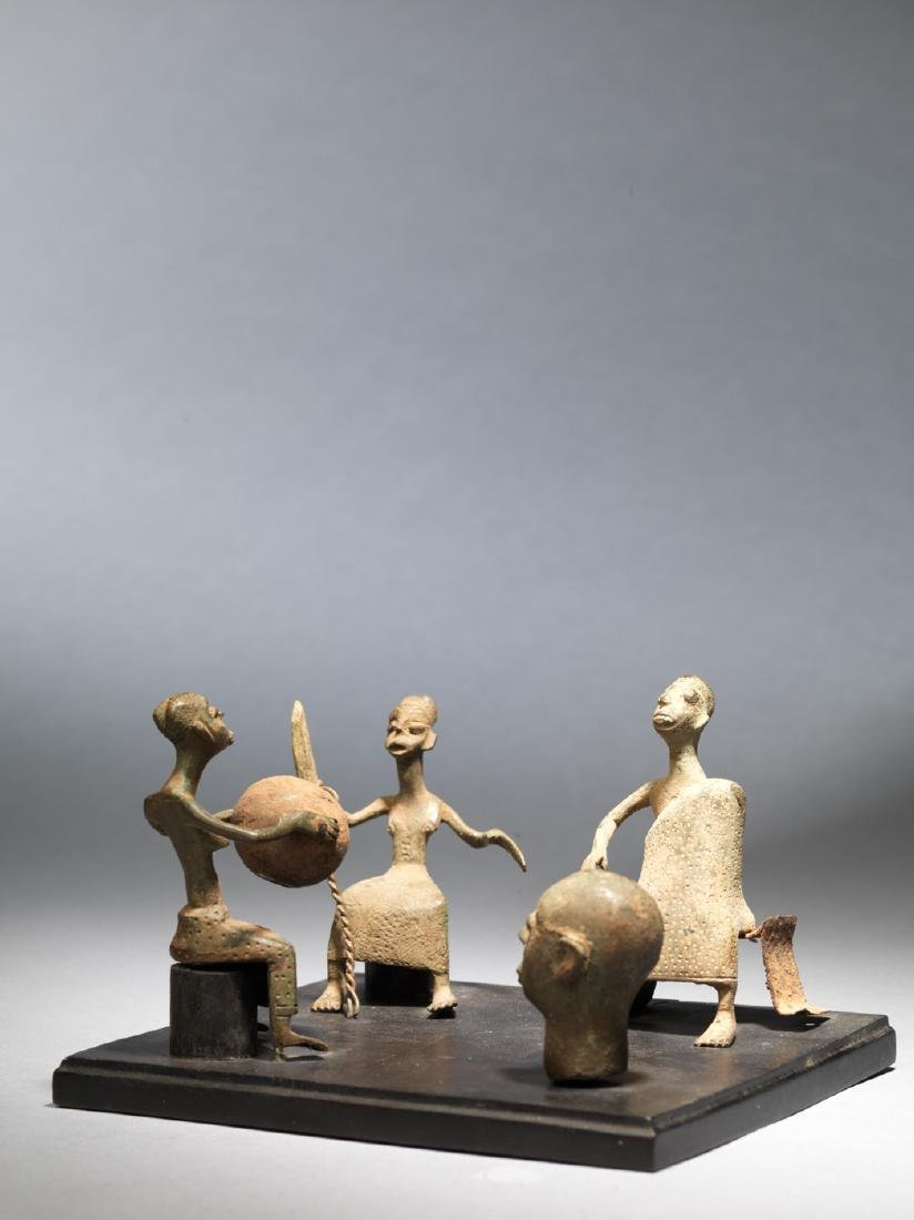 Four Fon altar figures Tribal Art