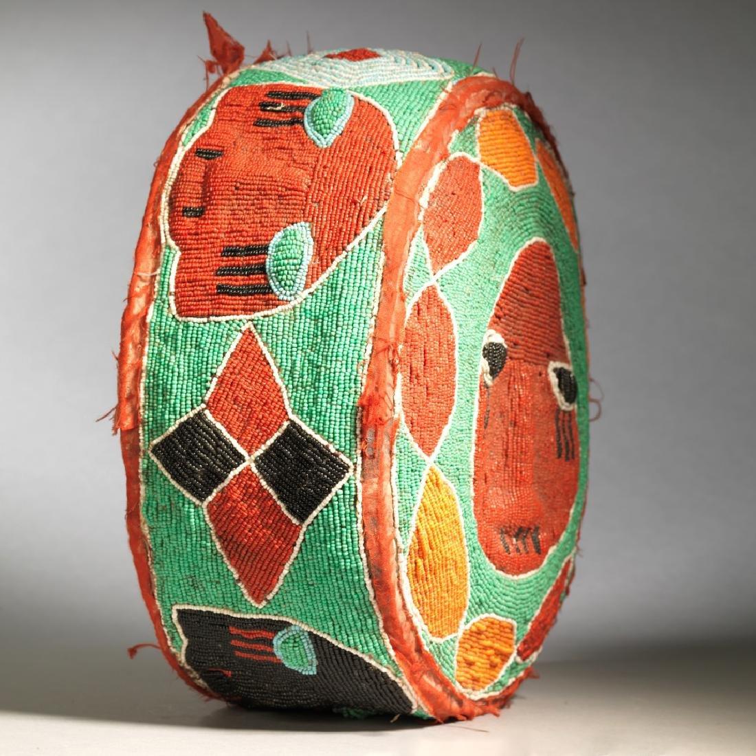 Yoruba Royal Foot Cushion Tribal Art - 2