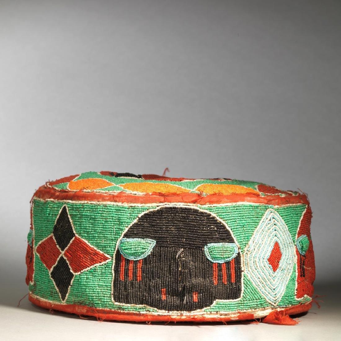 Yoruba Royal Foot Cushion Tribal Art - 4