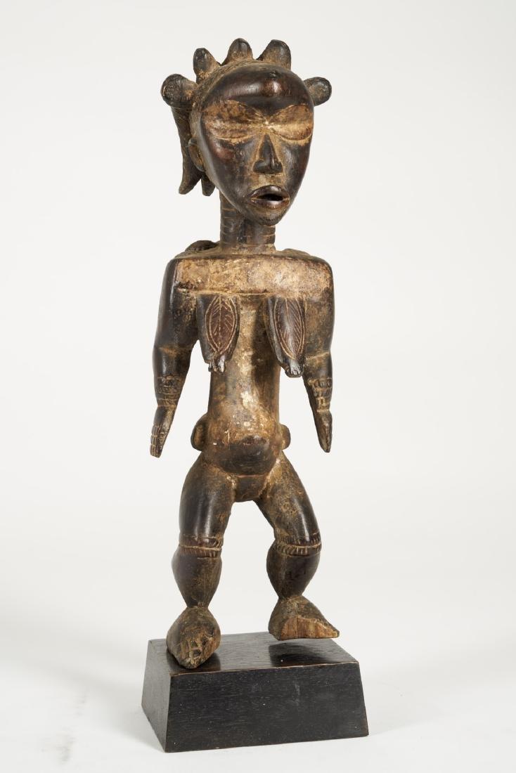Dan Lu Me Figure with elaborate Heardress Tribal Art