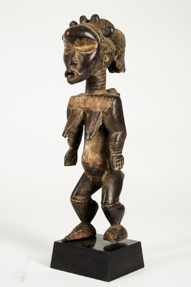 Dan Lu Me Figure with elaborate Heardress Tribal Art - 3