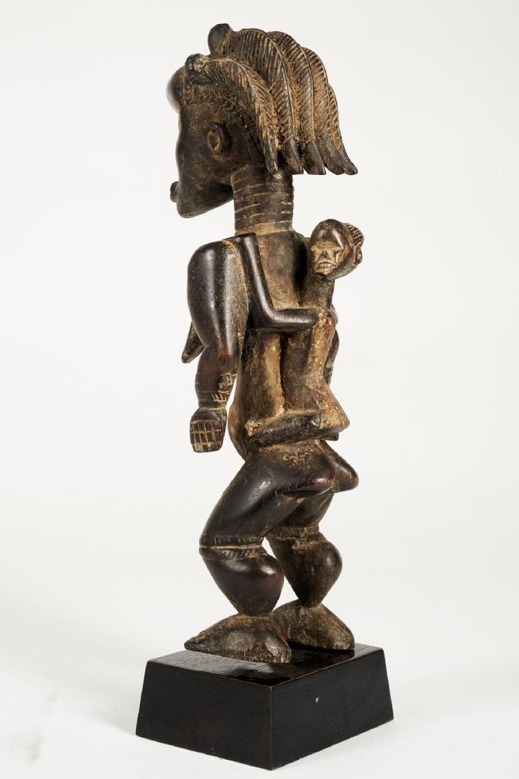 Dan Lu Me Figure with elaborate Heardress Tribal Art - 5