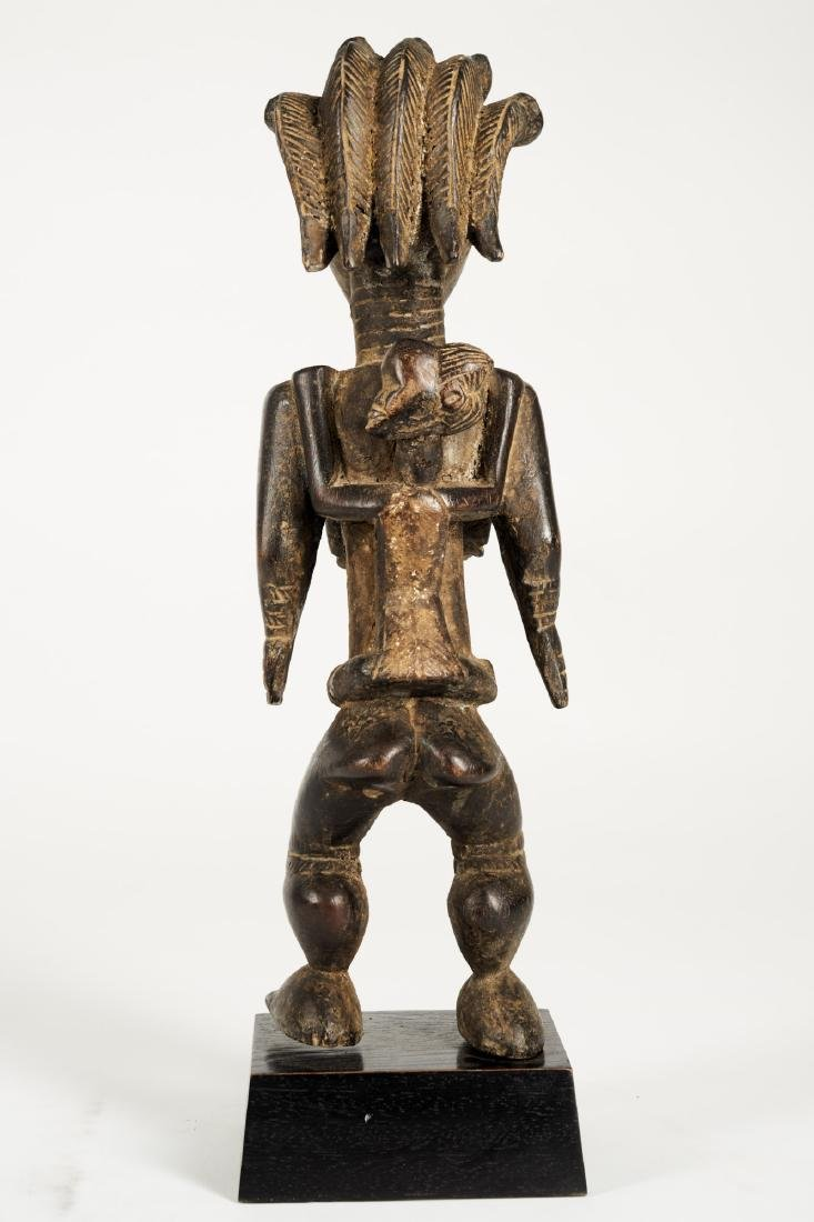 Dan Lu Me Figure with elaborate Heardress Tribal Art - 6
