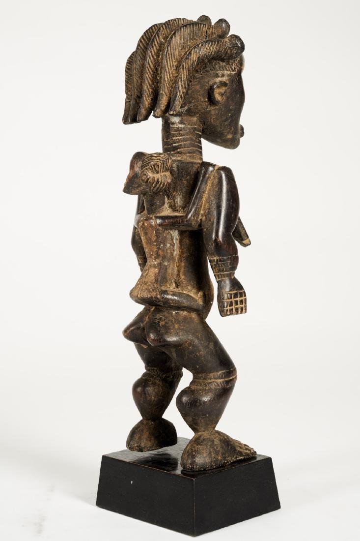 Dan Lu Me Figure with elaborate Heardress Tribal Art - 7