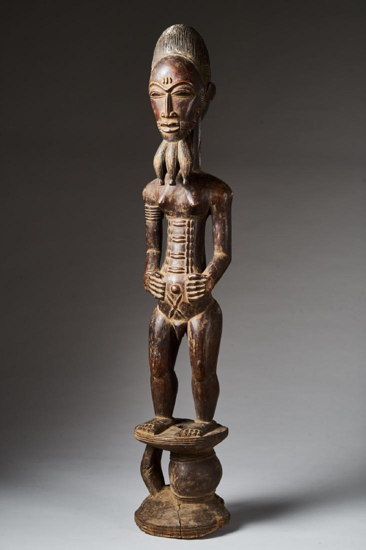 Male Baule Statue Tribal Art