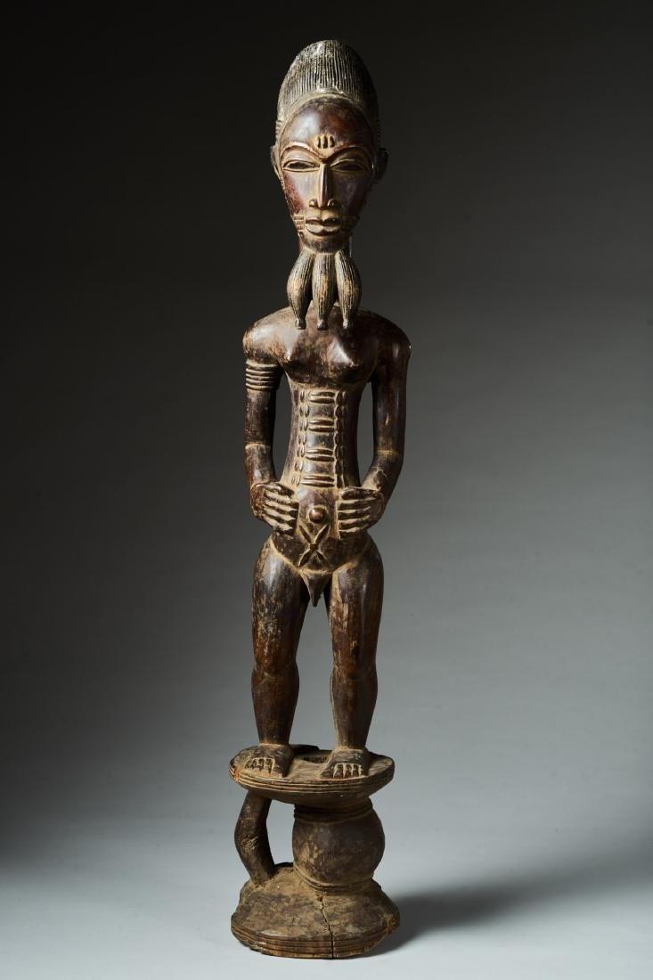 Male Baule Statue Tribal Art - 2