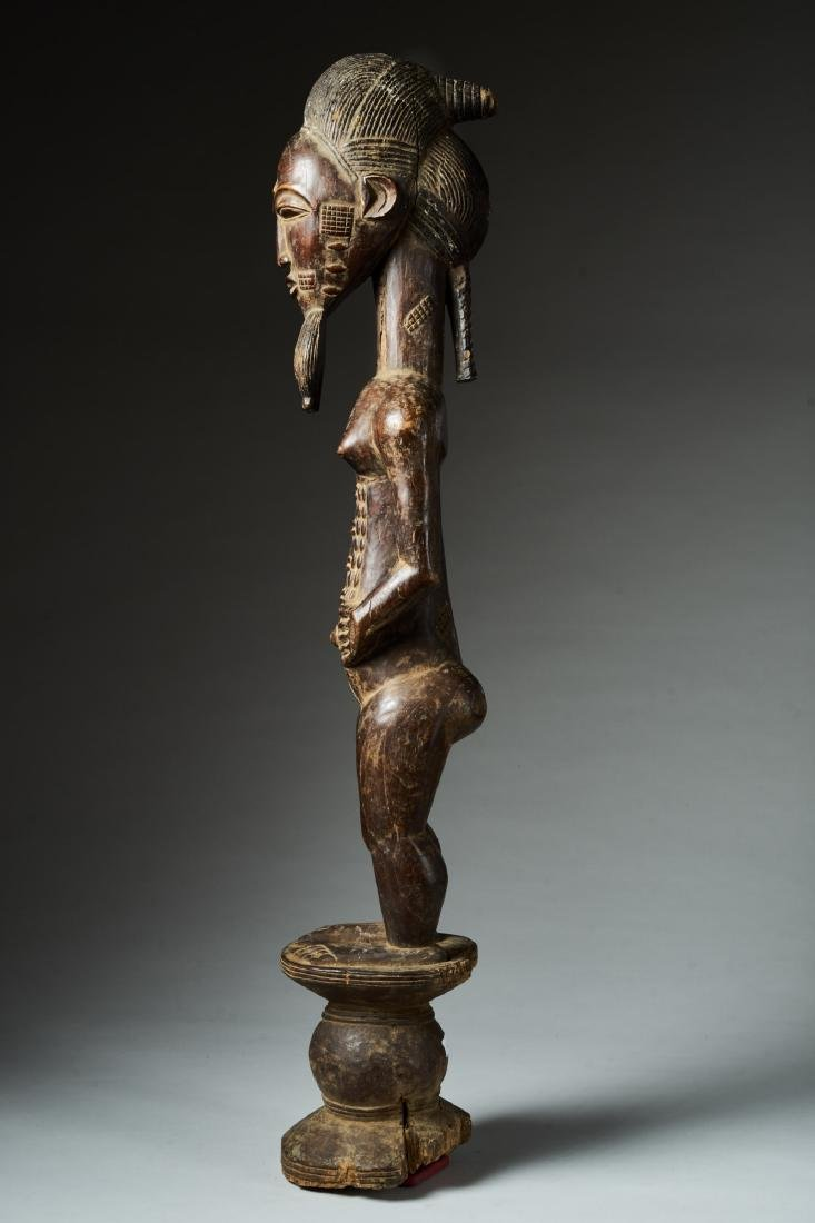 Male Baule Statue Tribal Art - 3