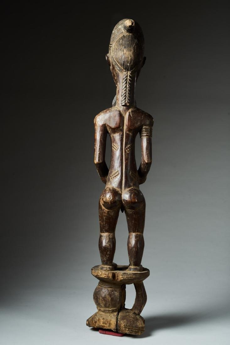Male Baule Statue Tribal Art - 4