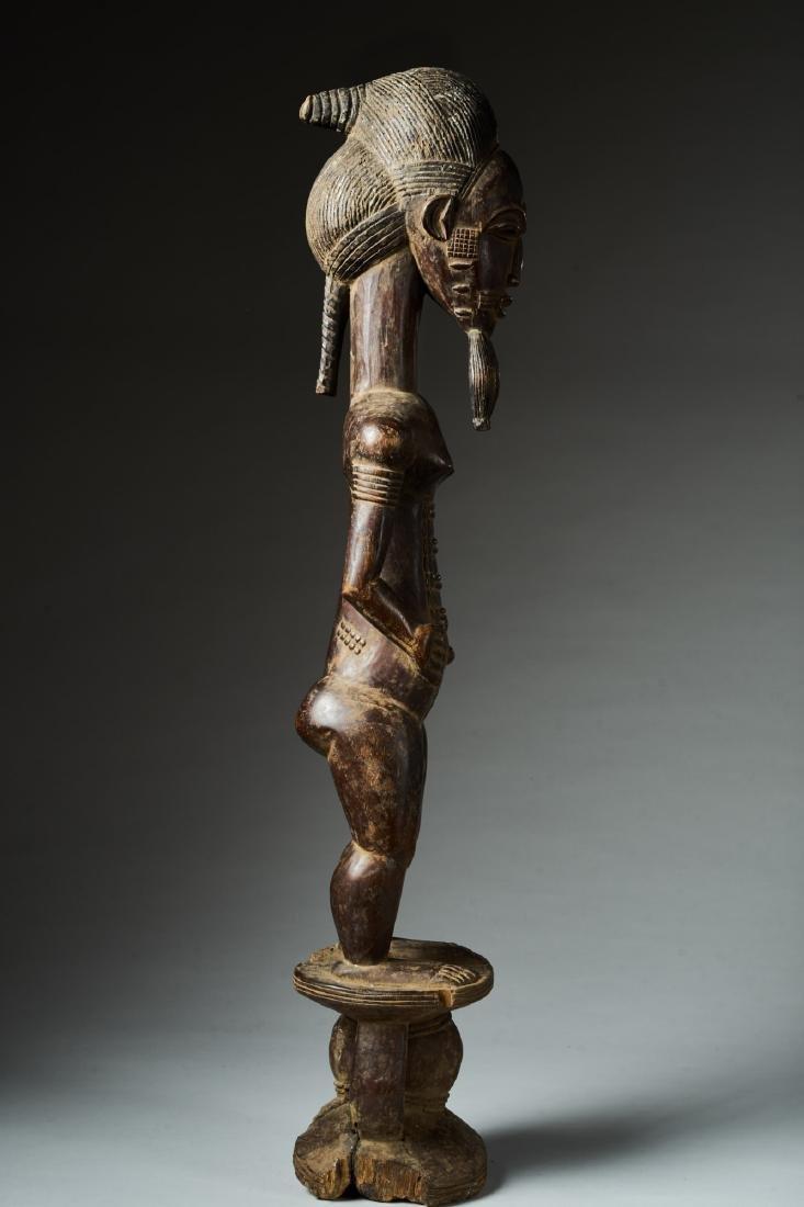 Male Baule Statue Tribal Art - 5