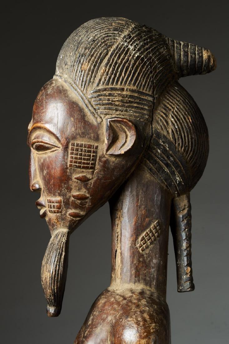 Male Baule Statue Tribal Art - 6