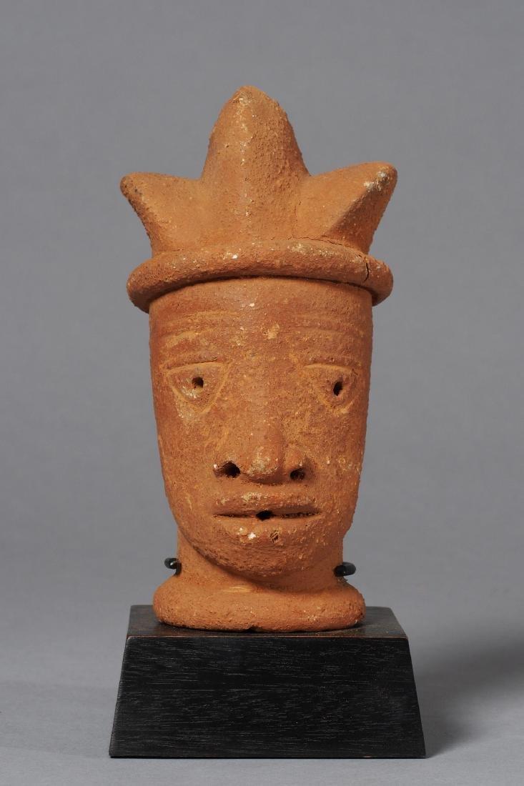Nok Head Sculpture Tribal Art - 3
