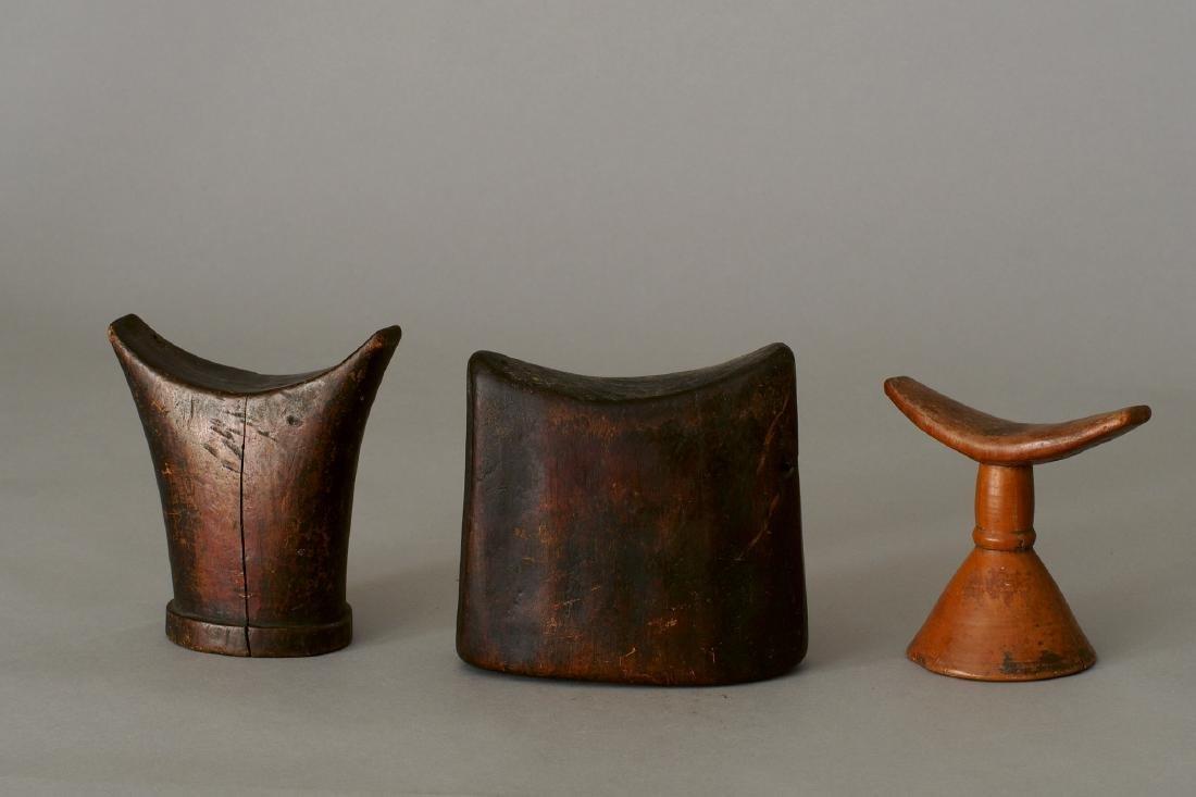 Three Ethiopian Headrests Tribal Art - 2