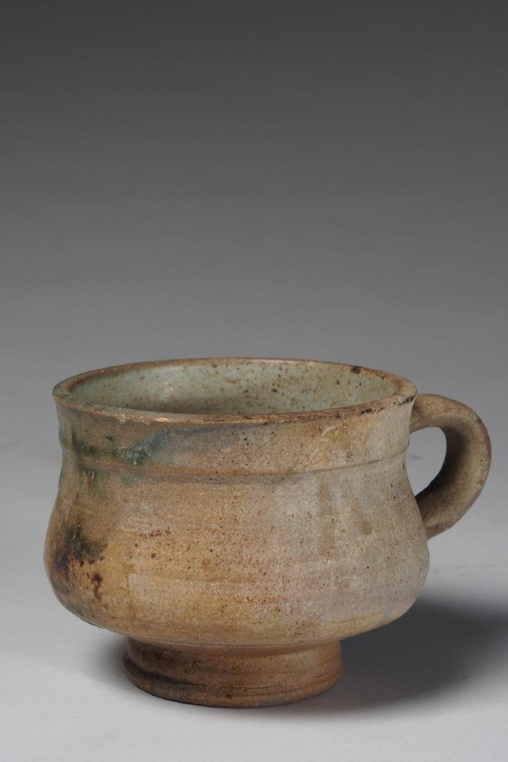 Yoruba glazed terracotta drinking cup Tribal Art