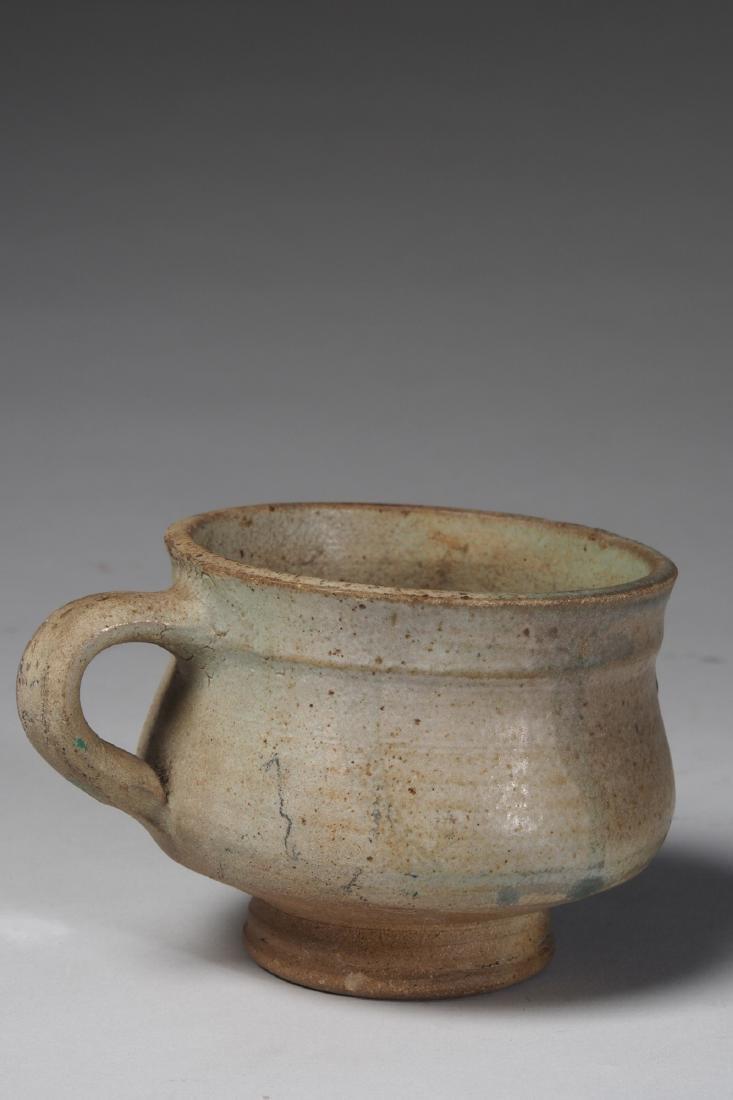 Yoruba glazed terracotta drinking cup Tribal Art - 2