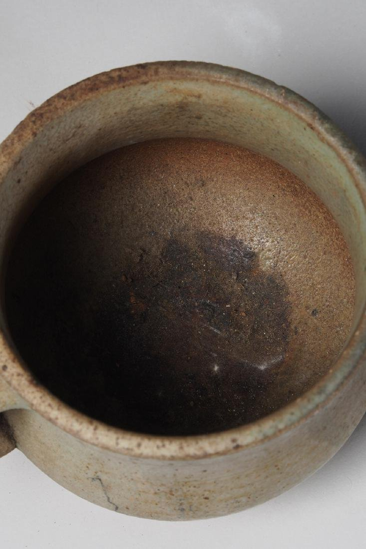 Yoruba glazed terracotta drinking cup Tribal Art - 3
