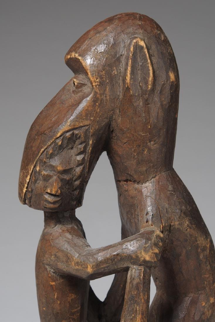 Wooden Figure of Monkey eating a man Tribal Art - 5