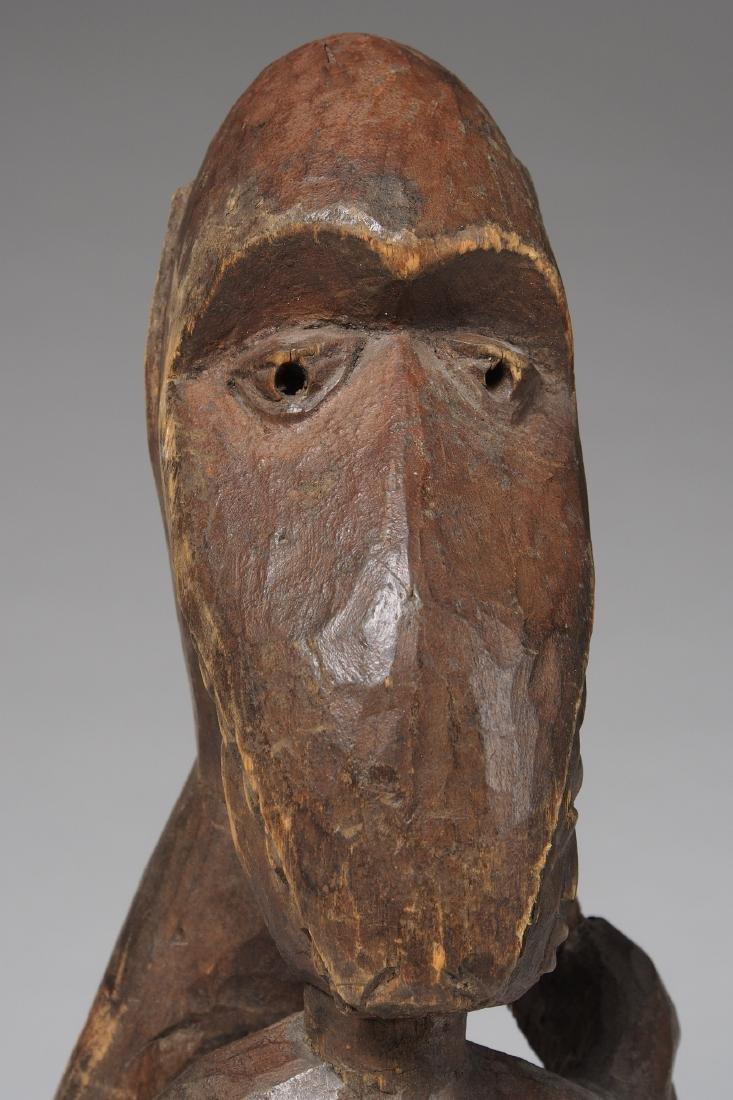 Wooden Figure of Monkey eating a man Tribal Art - 6