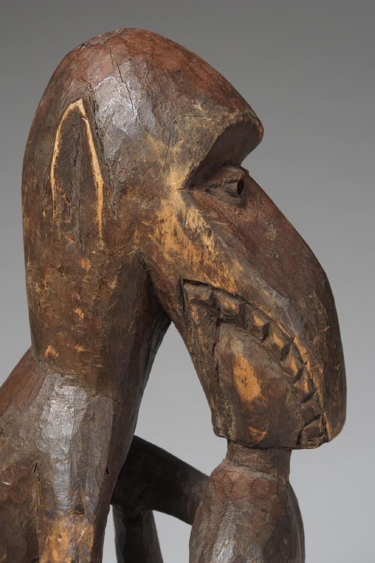 Wooden Figure of Monkey eating a man Tribal Art - 7