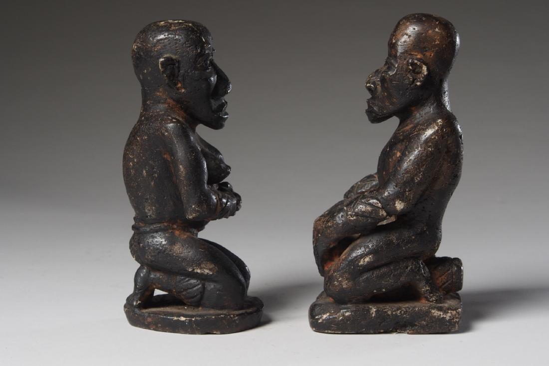 Seated Steatite Kongo Couple Tribal Art - 2